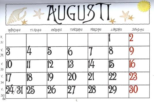 almanacka-augusti-2009-datumkort-beige-gul
